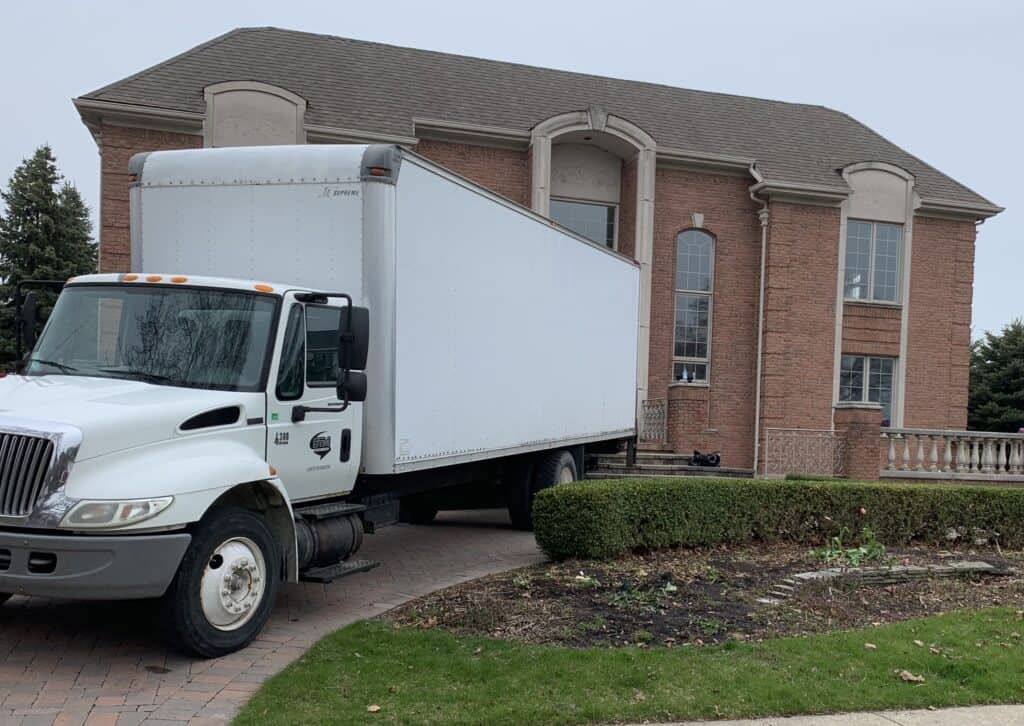 packing and loading the moving truck